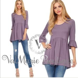 🌸LAST 1!!! Purple baby doll top